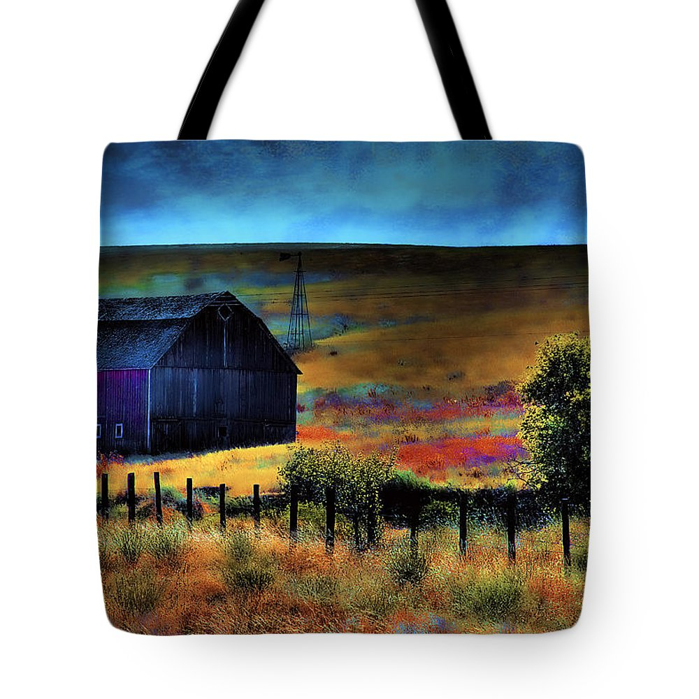 Barn Tote Bag featuring the photograph The Red Barn by David Patterson