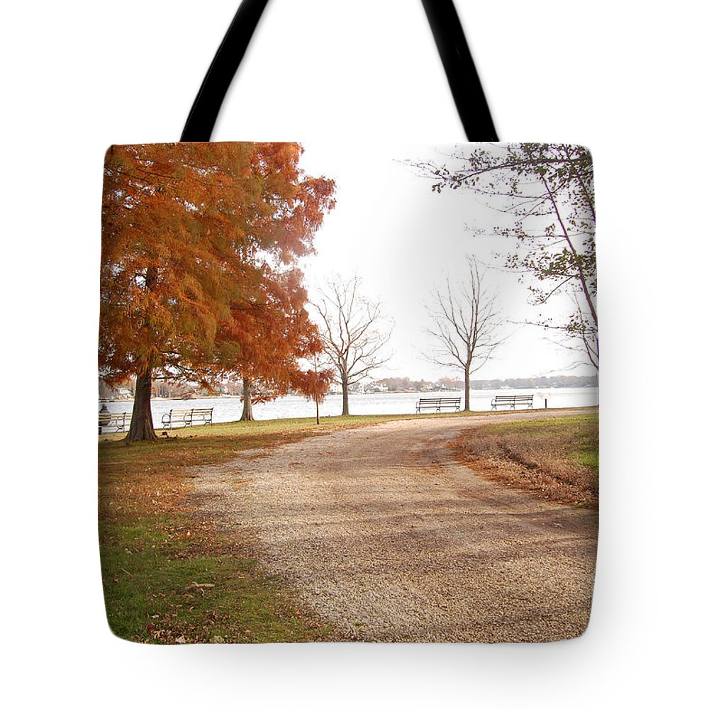 Water Tote Bag featuring the digital art The Road Untraveled by Jinell K