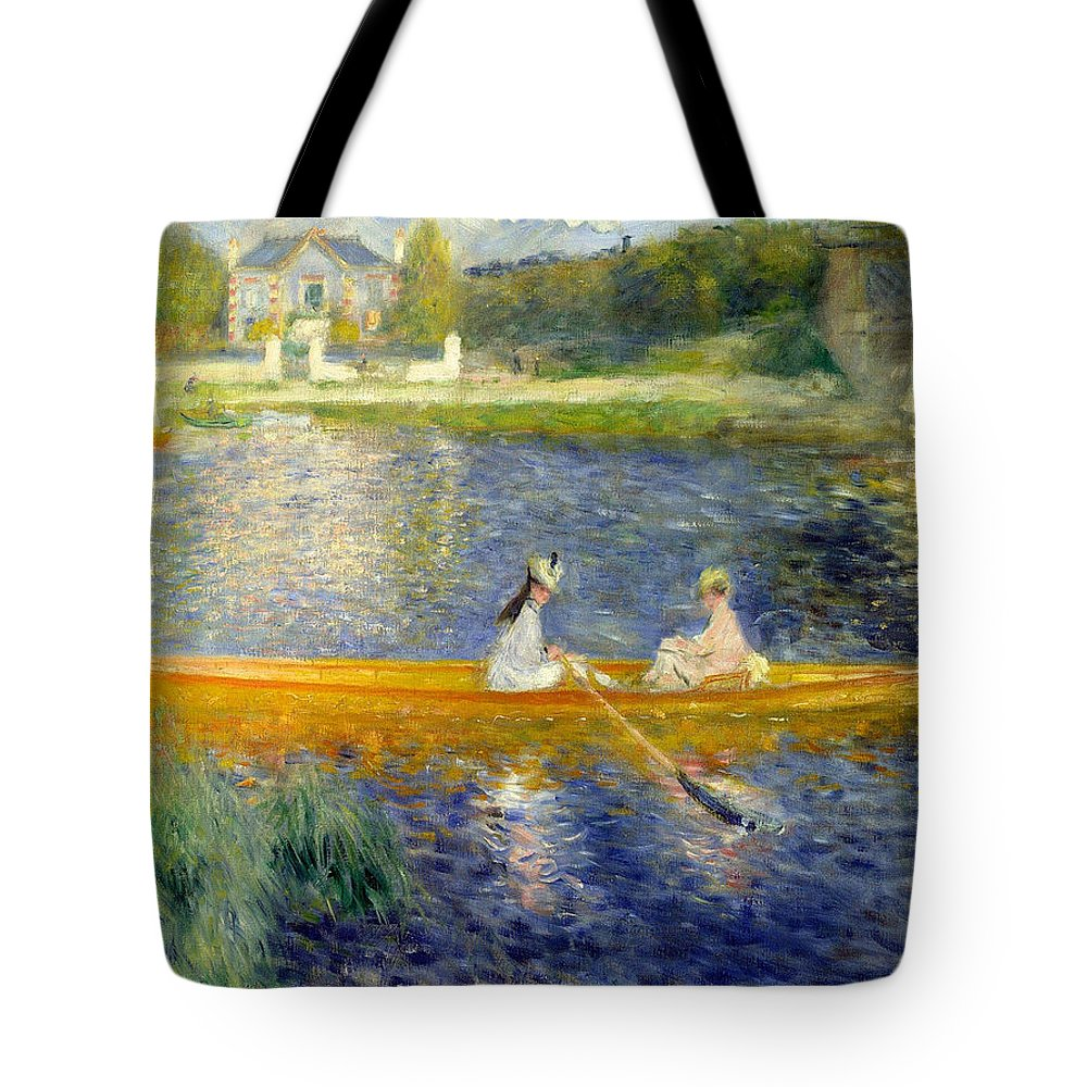 Boat Tote Bag featuring the painting The Skiff by Pierre-Auguste Renoir
