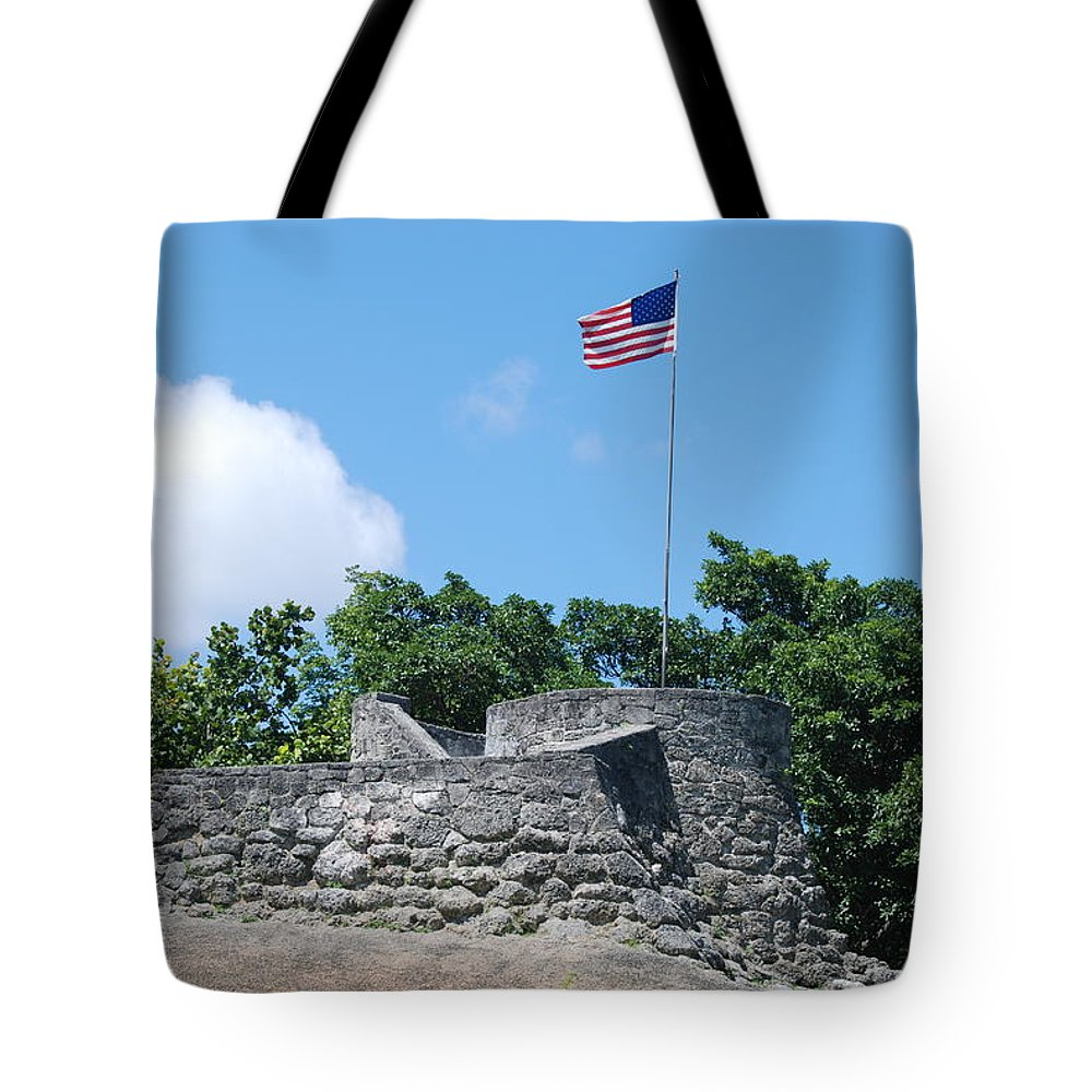 American Flag Tote Bag featuring the photograph The Stand by Rob Hans