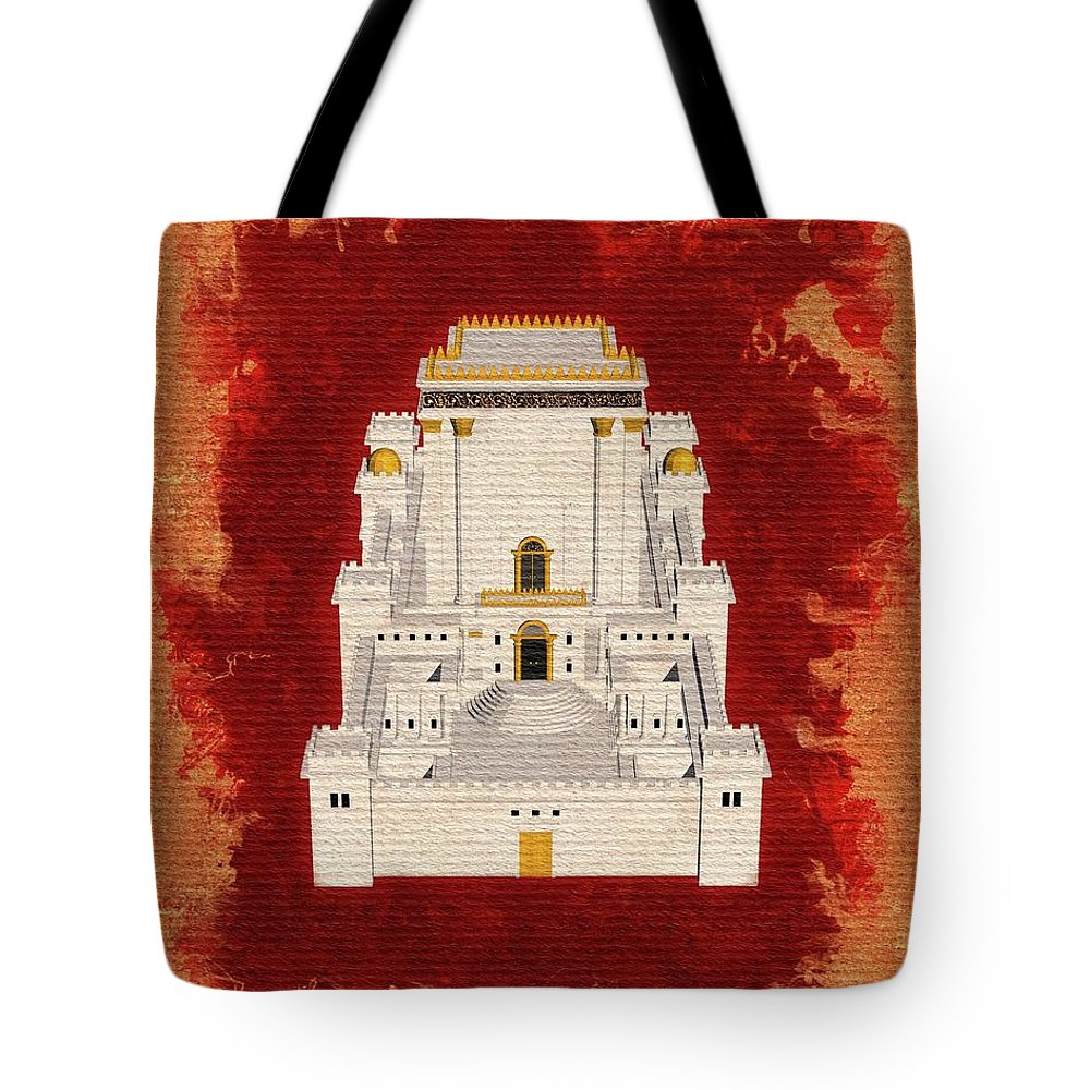 Temple Tote Bag featuring the painting The Temple Of Solomon 1 by Pierre Blanchard