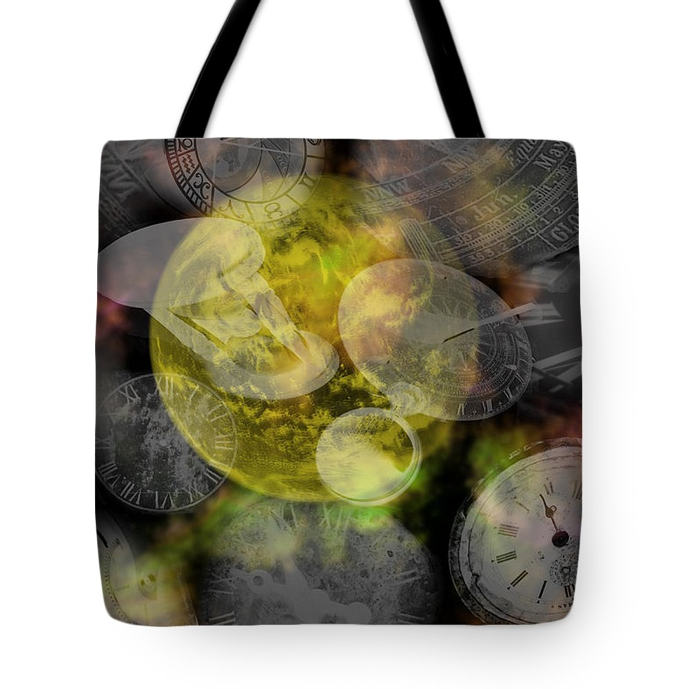 Chaos Tote Bag featuring the painting The Time Is Out Of Joint by RC DeWinter