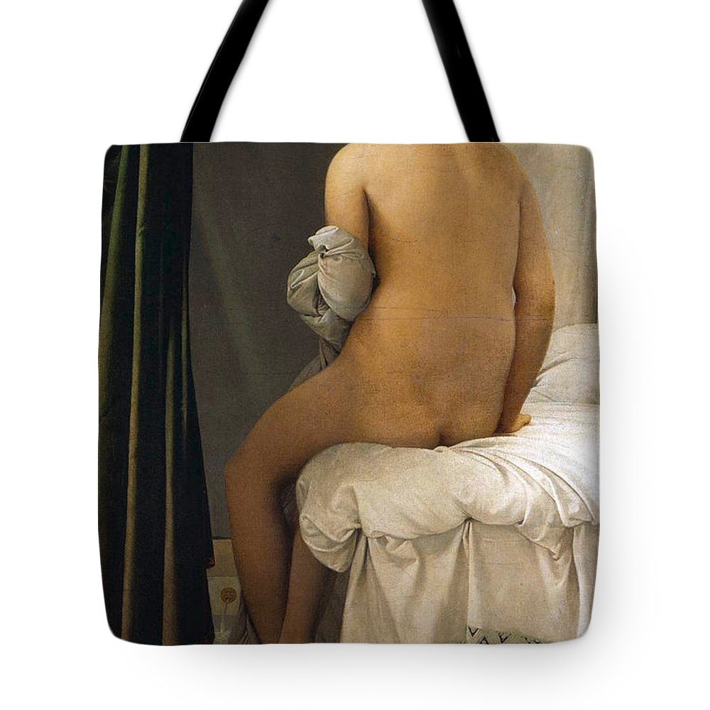 Bathers Tote Bag featuring the painting The Valpincon Bather by Jean-Auguste-Dominique Ingres