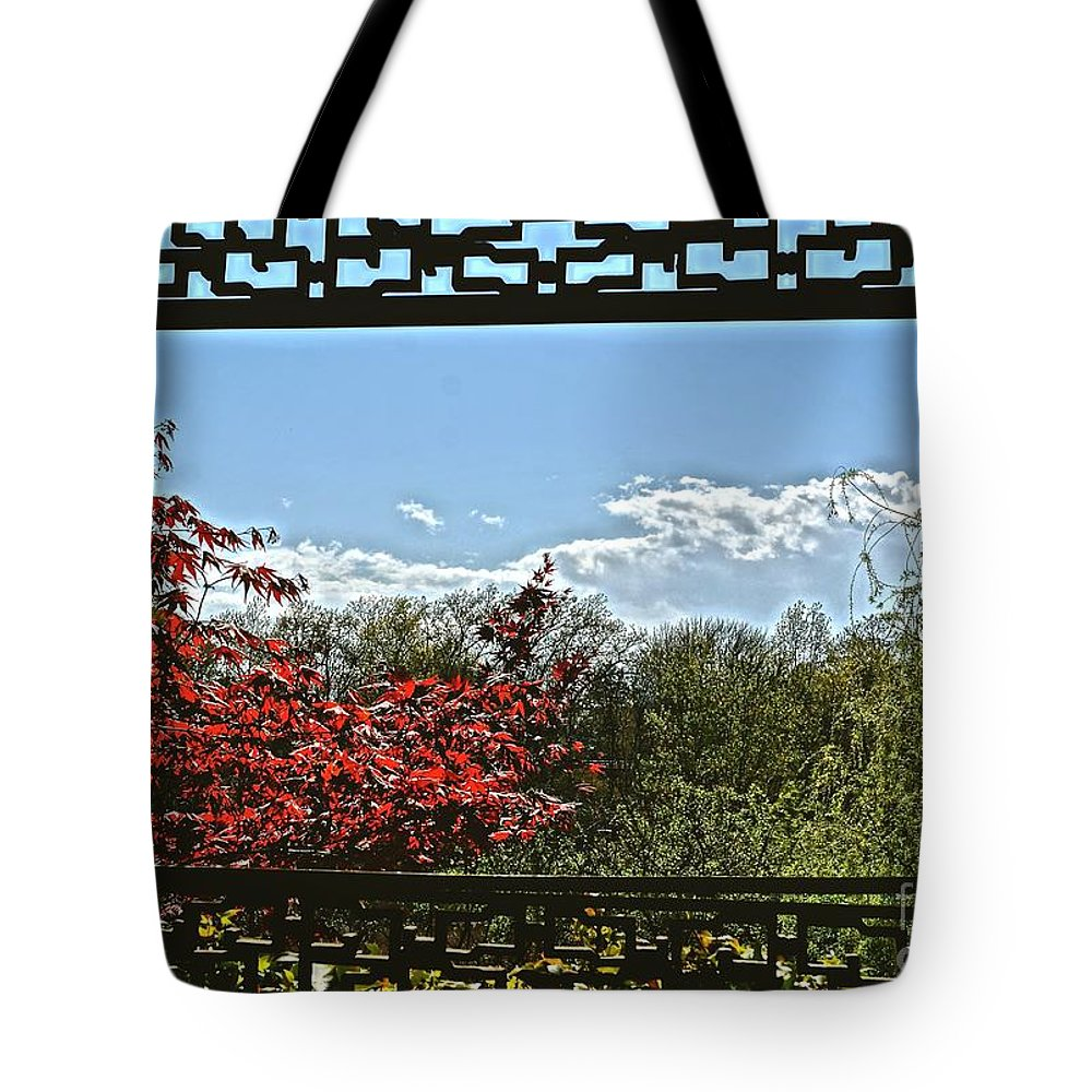 Window Tote Bag featuring the photograph The View From The Window by Ivana Kovacic