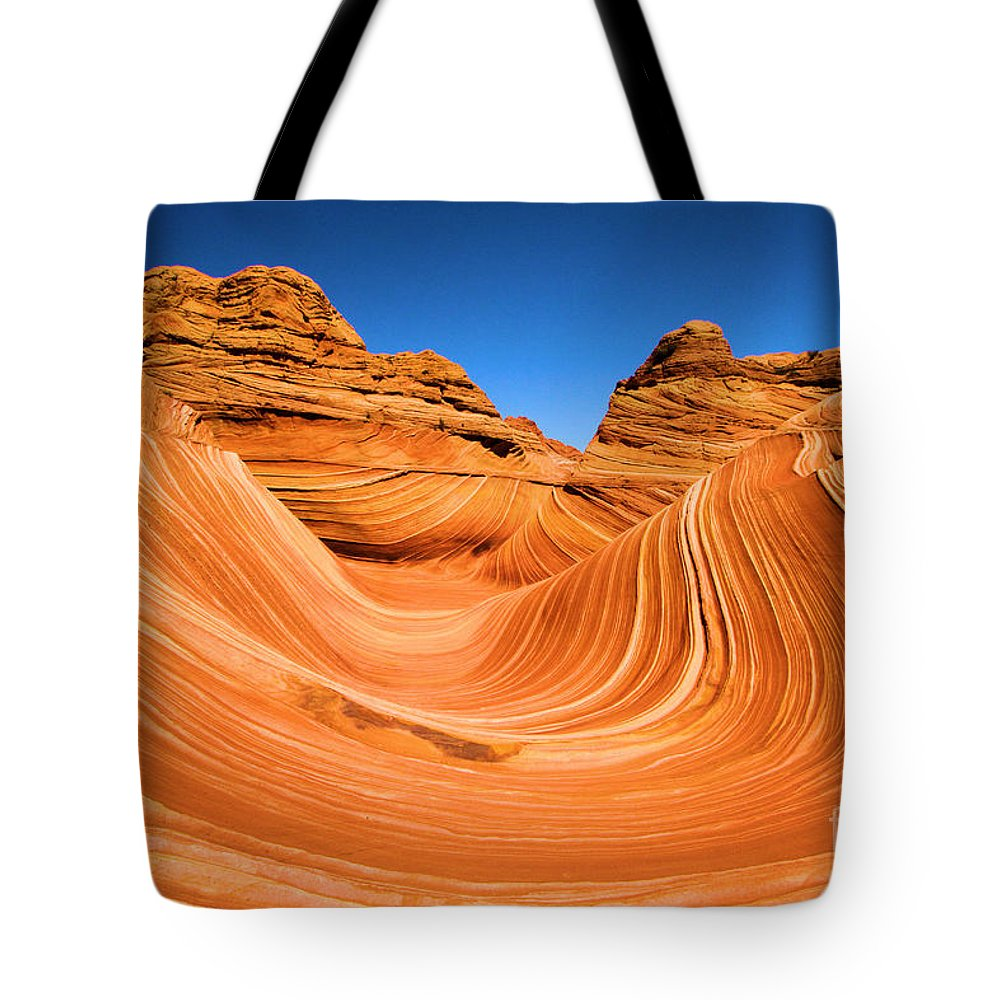 The Wave Tote Bag featuring the photograph The Wave by Adam Jewell