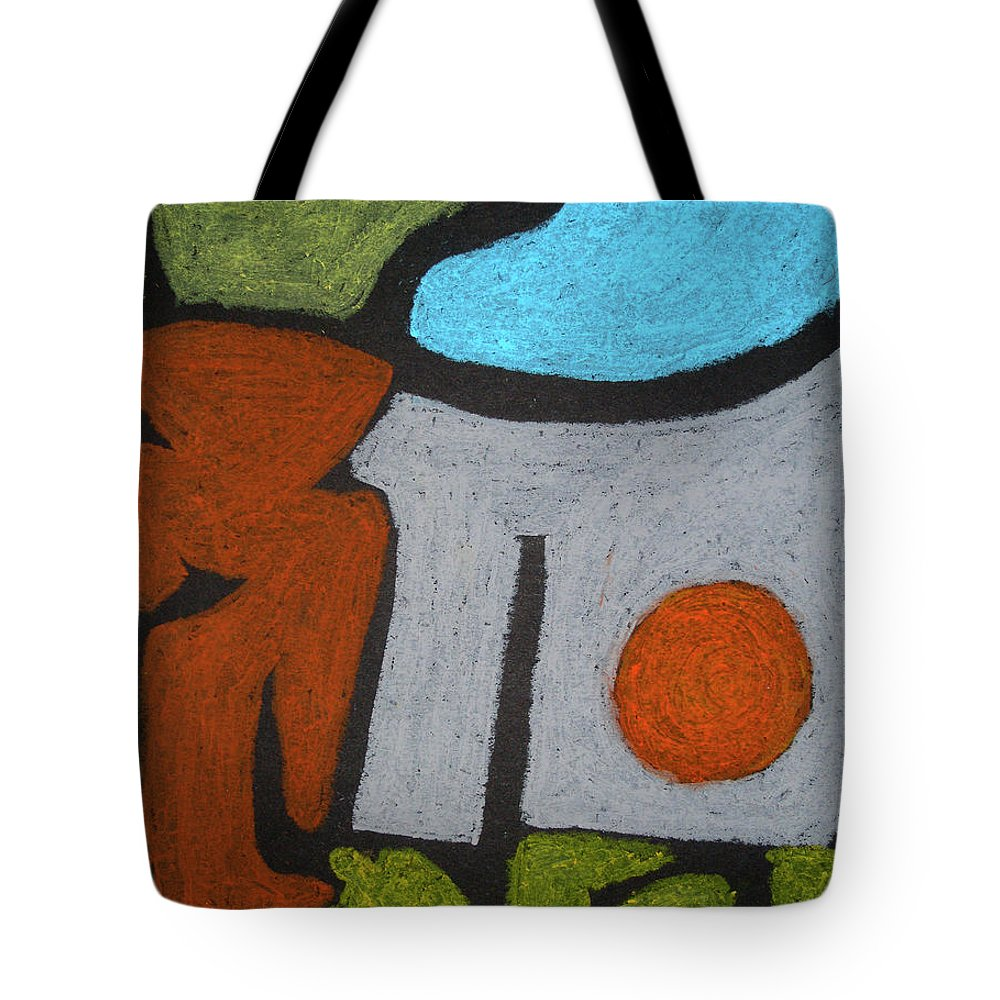 Abstract Figures Tote Bag featuring the pastel The Weight Of Time by Rein Nomm