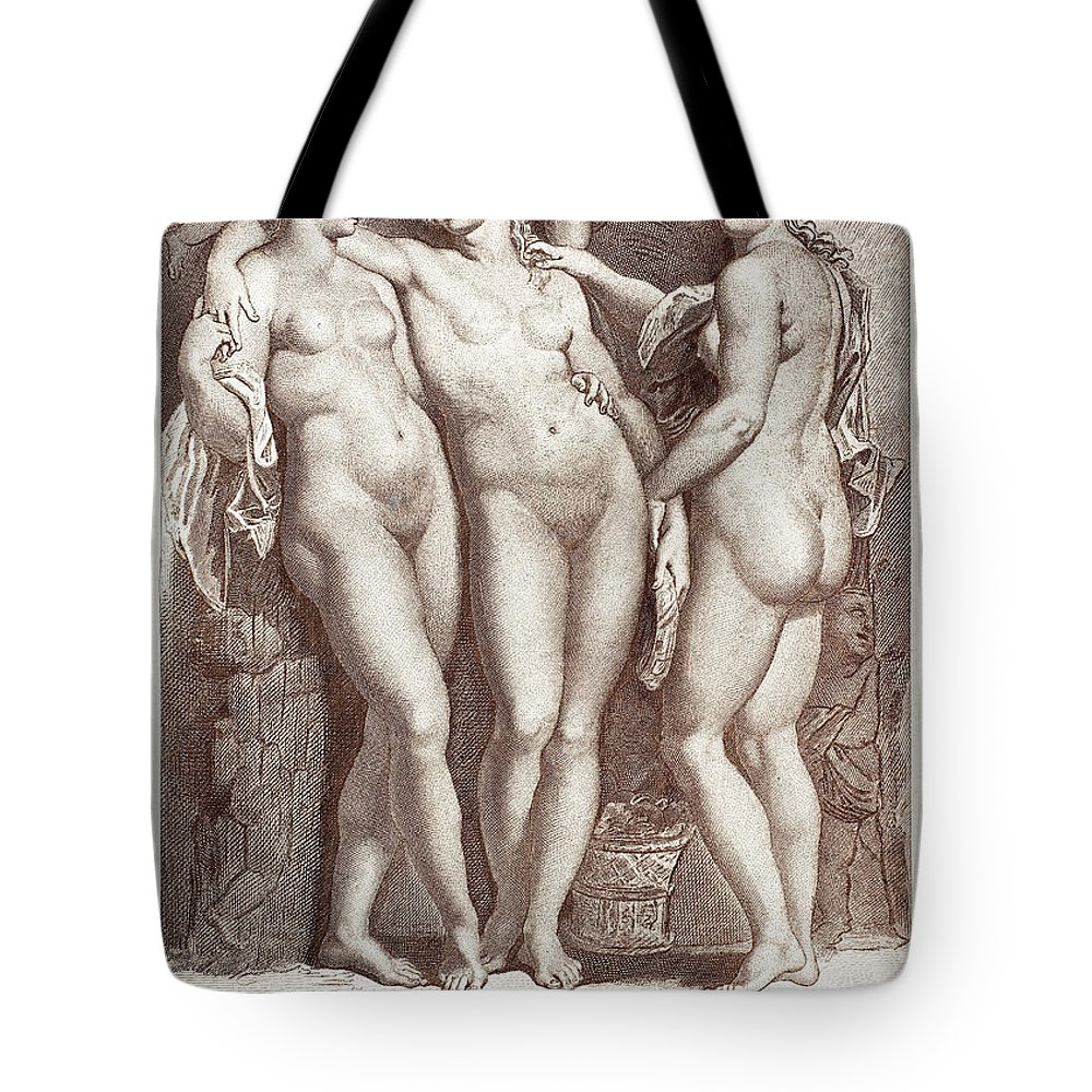 Ancient Tote Bag featuring the photograph Three Graces by Granger