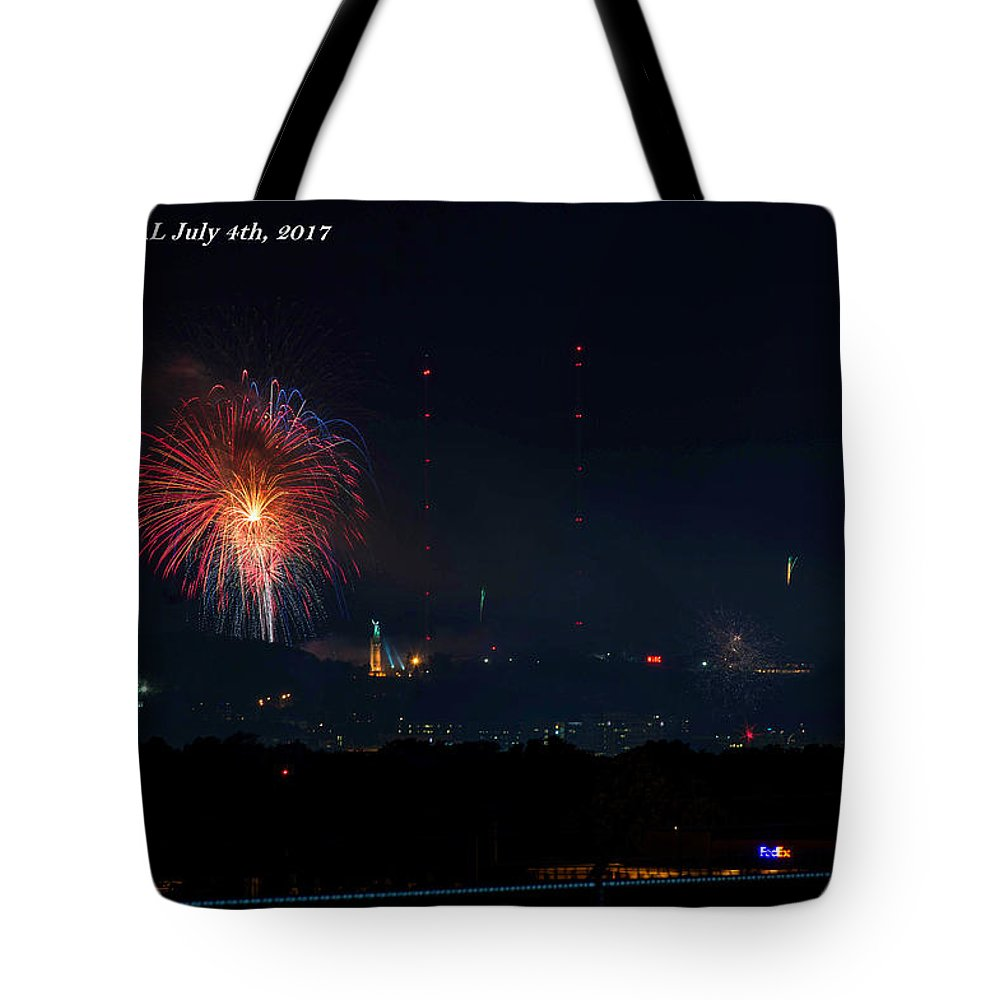 Birmingham Al Tote Bag featuring the photograph Thunder On Red Mt by Jeffery Gordon