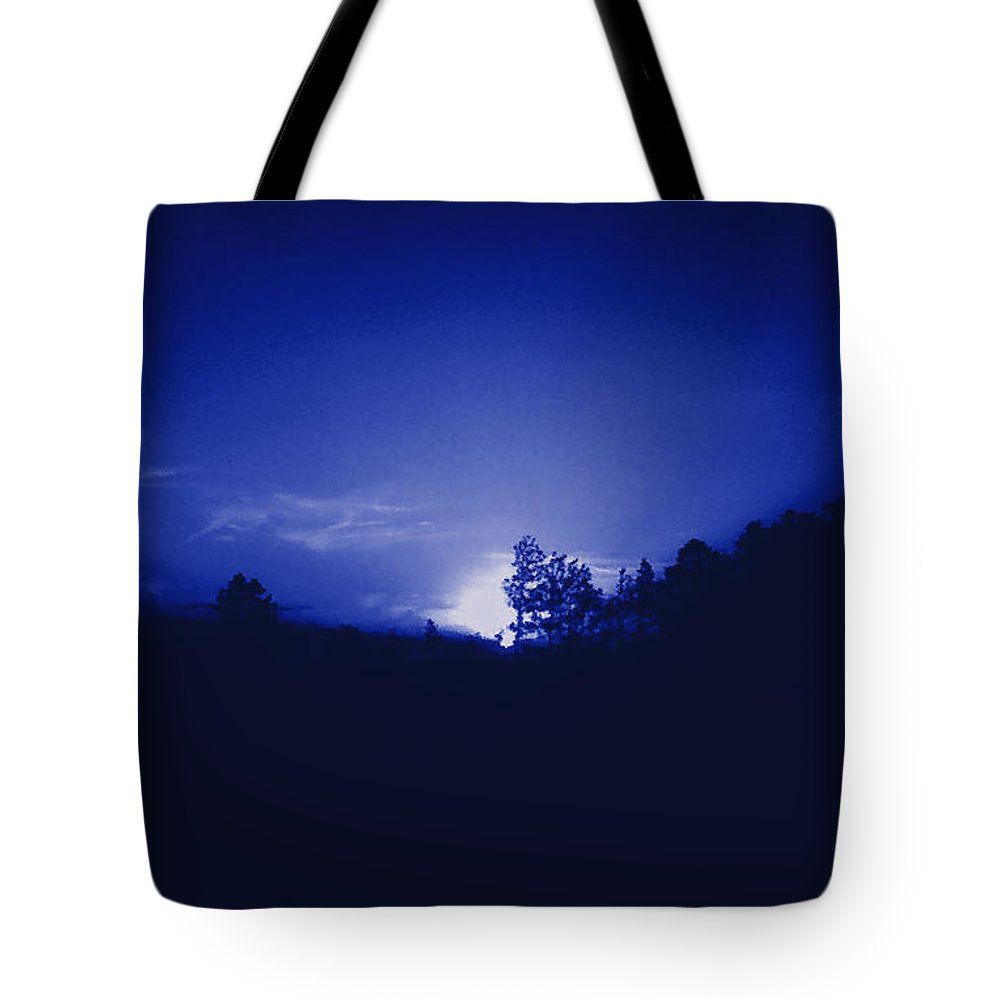 Sky Tote Bag featuring the photograph Where The Smurfs Live 2 by Max Mullins