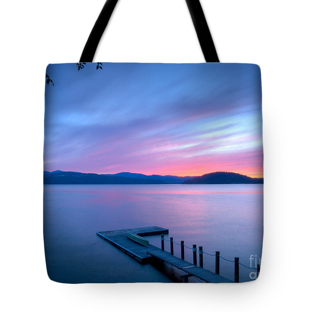 Coeur D'alene Tote Bag featuring the photograph Touch Of Pink by Idaho Scenic Images Linda Lantzy