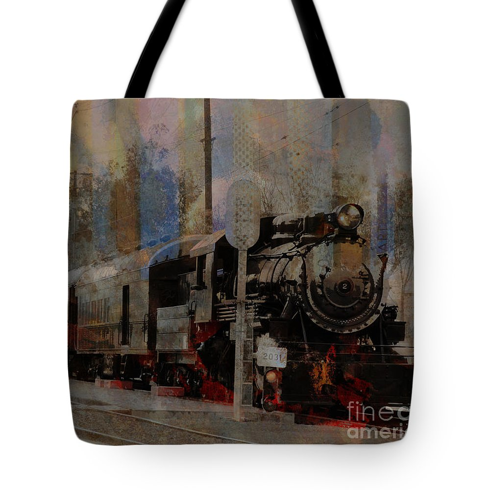 Train Tote Bag featuring the photograph Train Station by Robert Ball