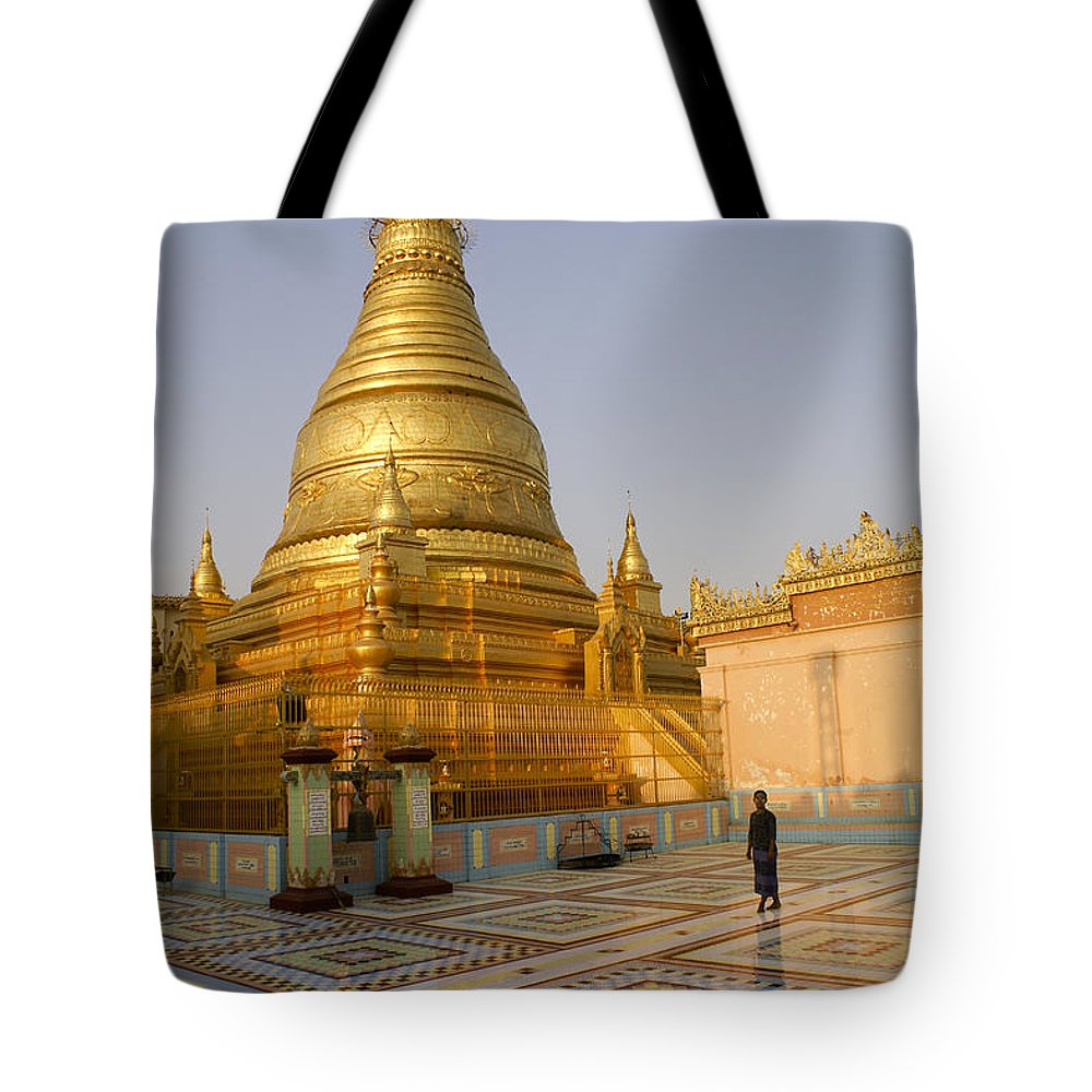 Burma Tote Bag featuring the photograph Tranquility by Michele Burgess