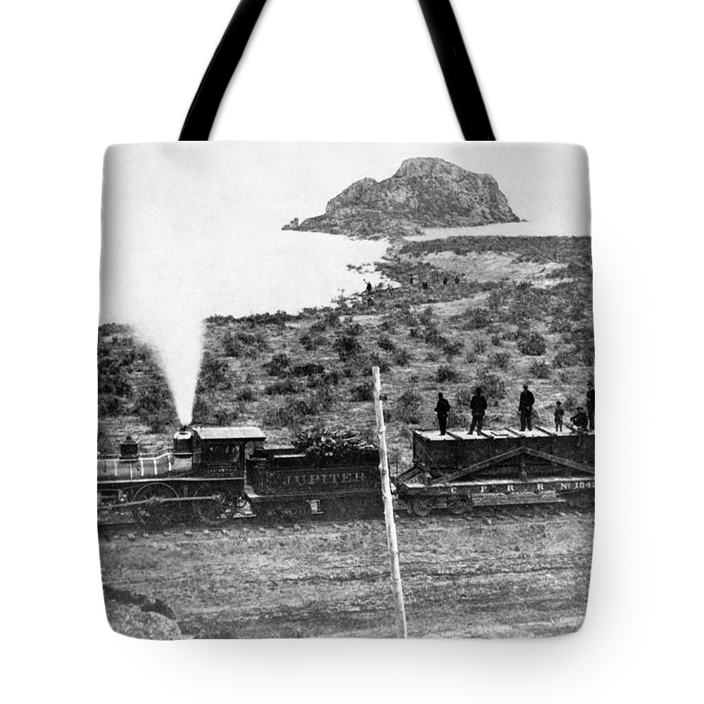 1860's Tote Bag featuring the photograph Transcontinental Railroad by Underwood Archives