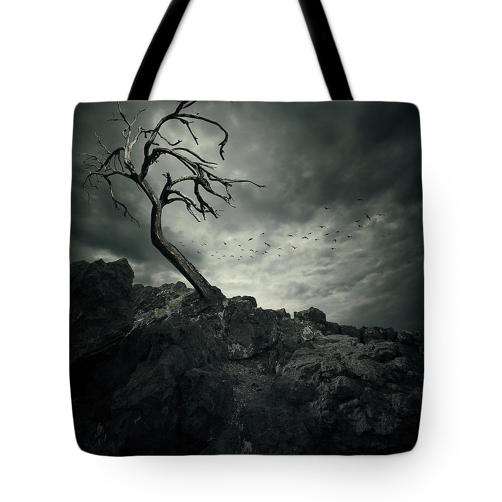 Bird Tote Bag featuring the digital art Tree by Zoltan Toth