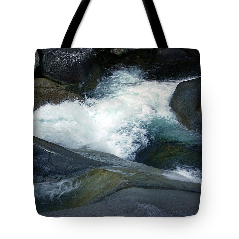 Fineart Tote Bag featuring the photograph Tropical Flowing Waters Josephine Falls by Kerryn Madsen- Pietsch
