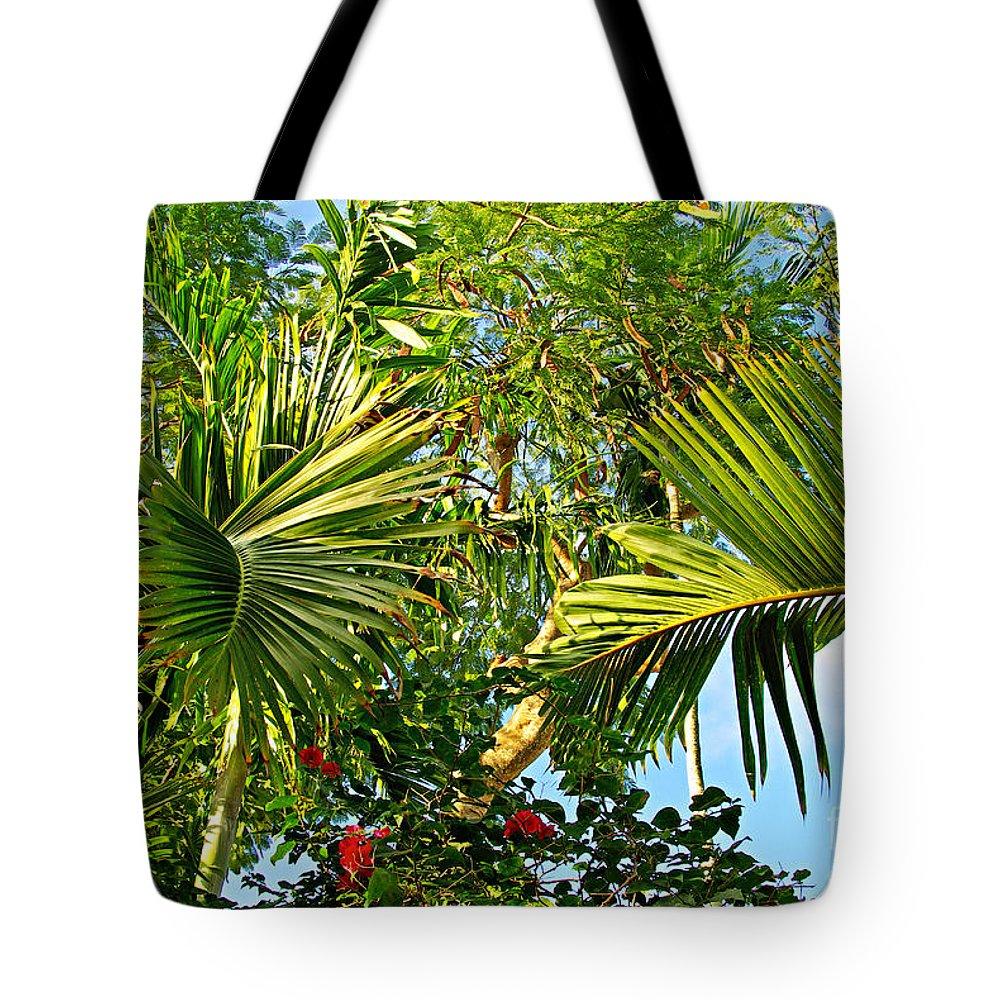 Tropical Tote Bag featuring the photograph Tropical Plants by Zalman Latzkovich