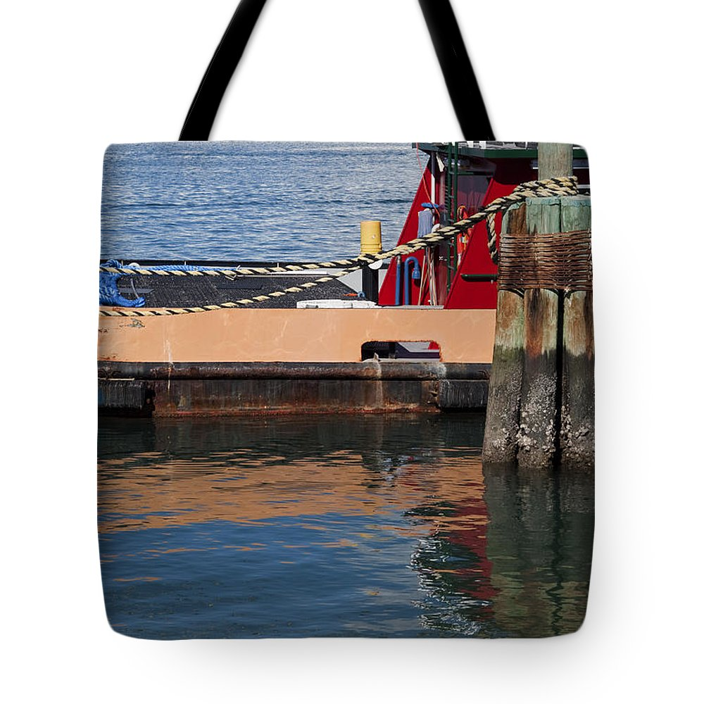 Water Tote Bag featuring the photograph Tug Indian River by Allan Hughes
