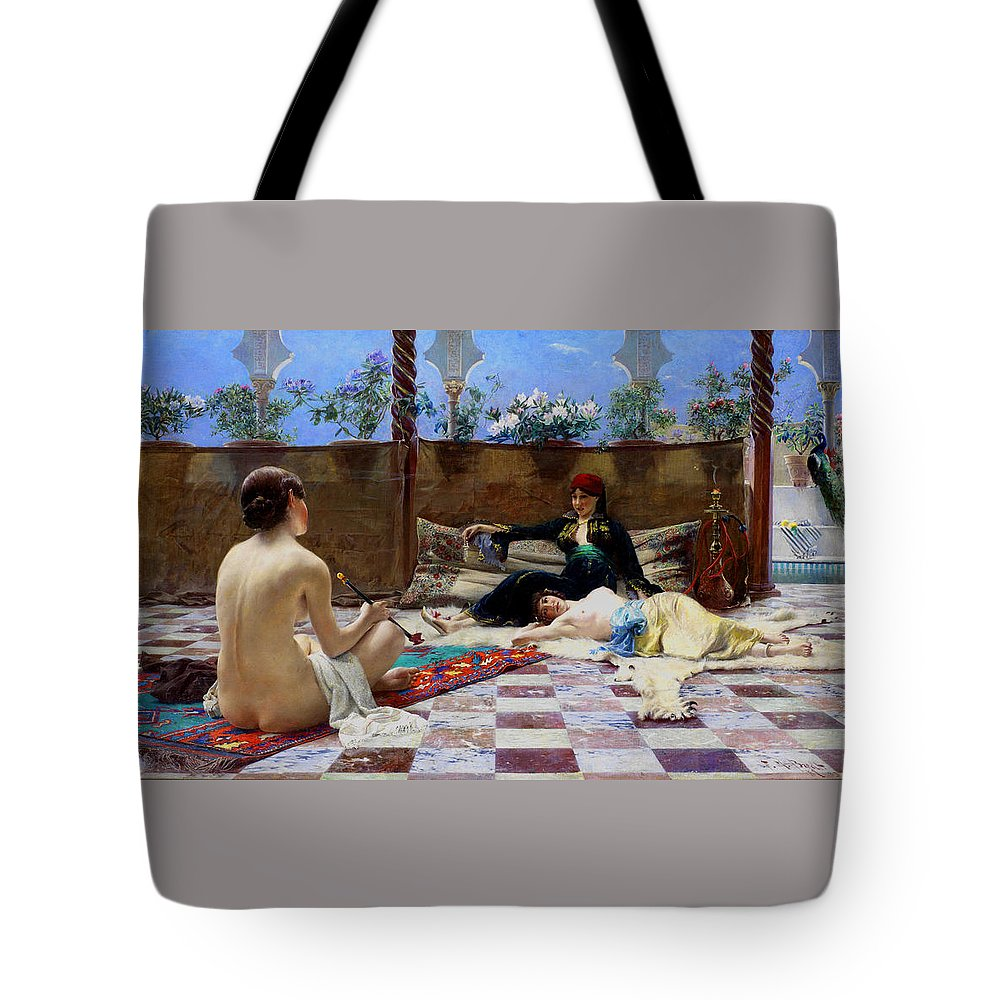 Ferdinand Max Bredt Tote Bag featuring the painting Turkish Women by Ferdinand Max Bredt