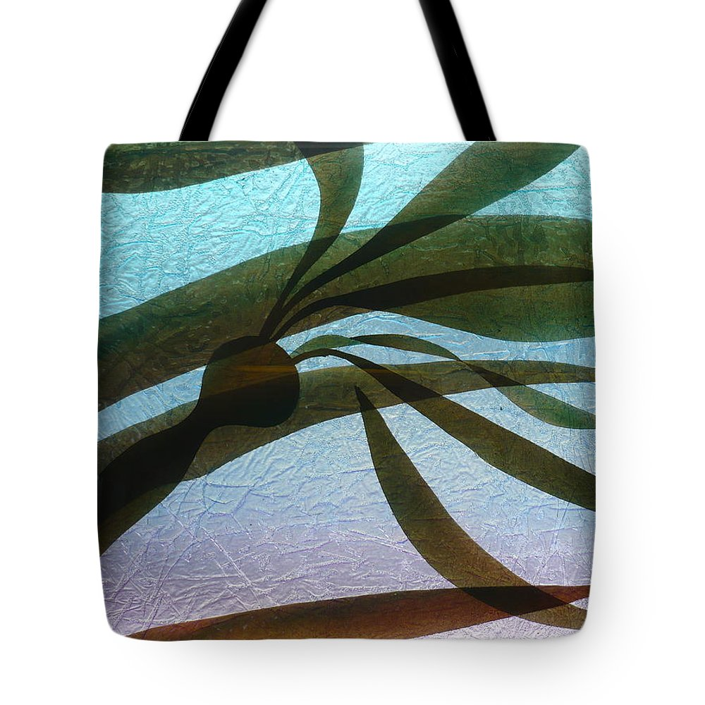 Original Tote Bag featuring the painting Under Currents  Detail by Rick Silas