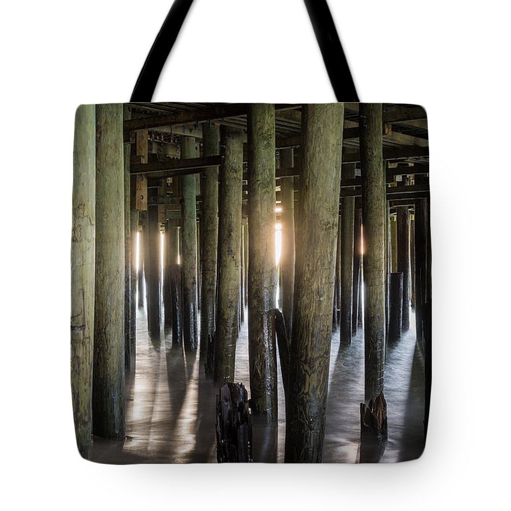 New Jersey Tote Bag featuring the photograph Under the Boardwalk by Kristopher Schoenleber