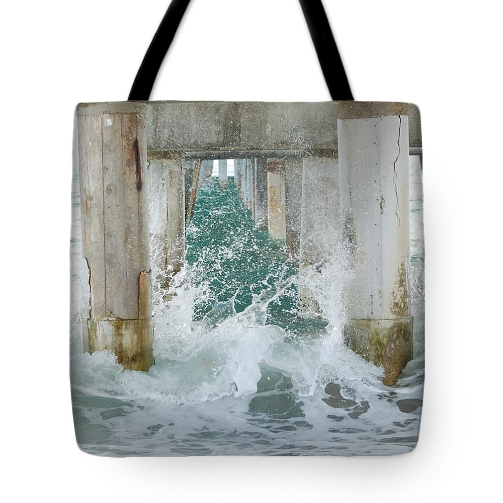 Ocean Tote Bag featuring the photograph Under The Boardwalk by Rob Hans