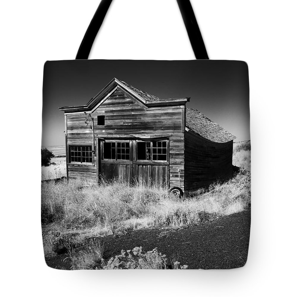 Ruin Tote Bag featuring the photograph Under The Weight Of It All by Mike Dawson