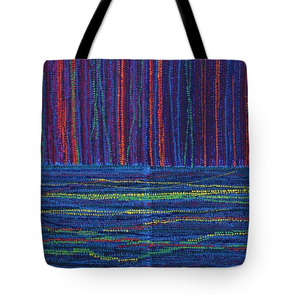 Inspirational Tote Bag featuring the painting Untitled by Kyung Hee Hogg