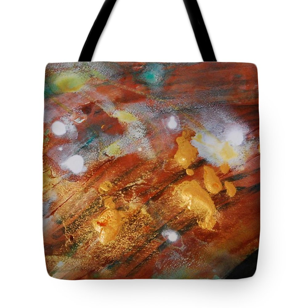 Green Tote Bag featuring the painting Untitled by Lauren Luna
