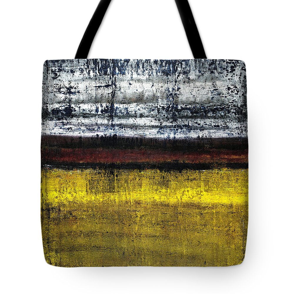 Yellow Tote Bag featuring the painting Untitled No. 18 by Julie Niemela