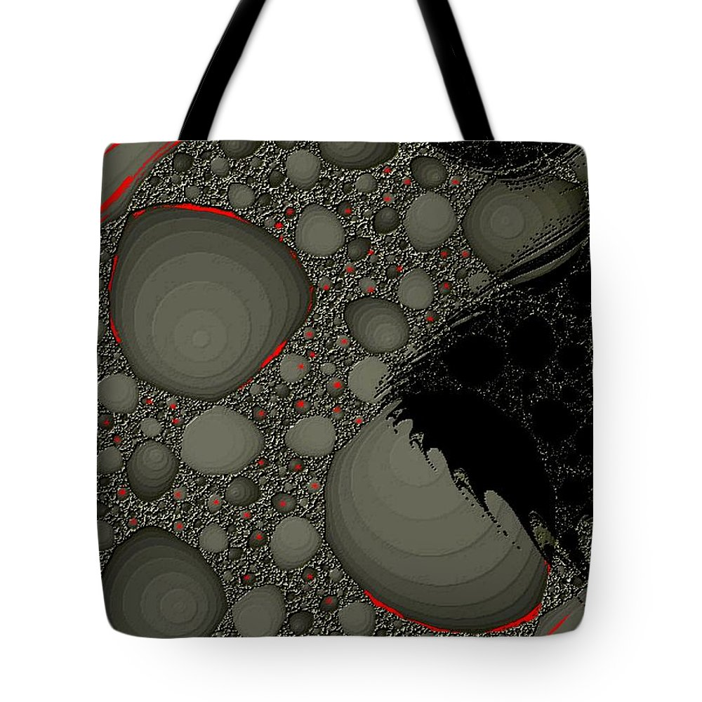 Fractals Embers Fire Cells Stones Rocks Tote Bag featuring the digital art Untitled 1 by Veronica Jackson