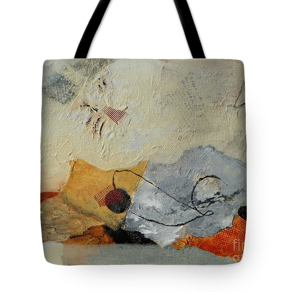 Abstract Expressionism Tote Bag featuring the painting Unwrapped by Donna Frost