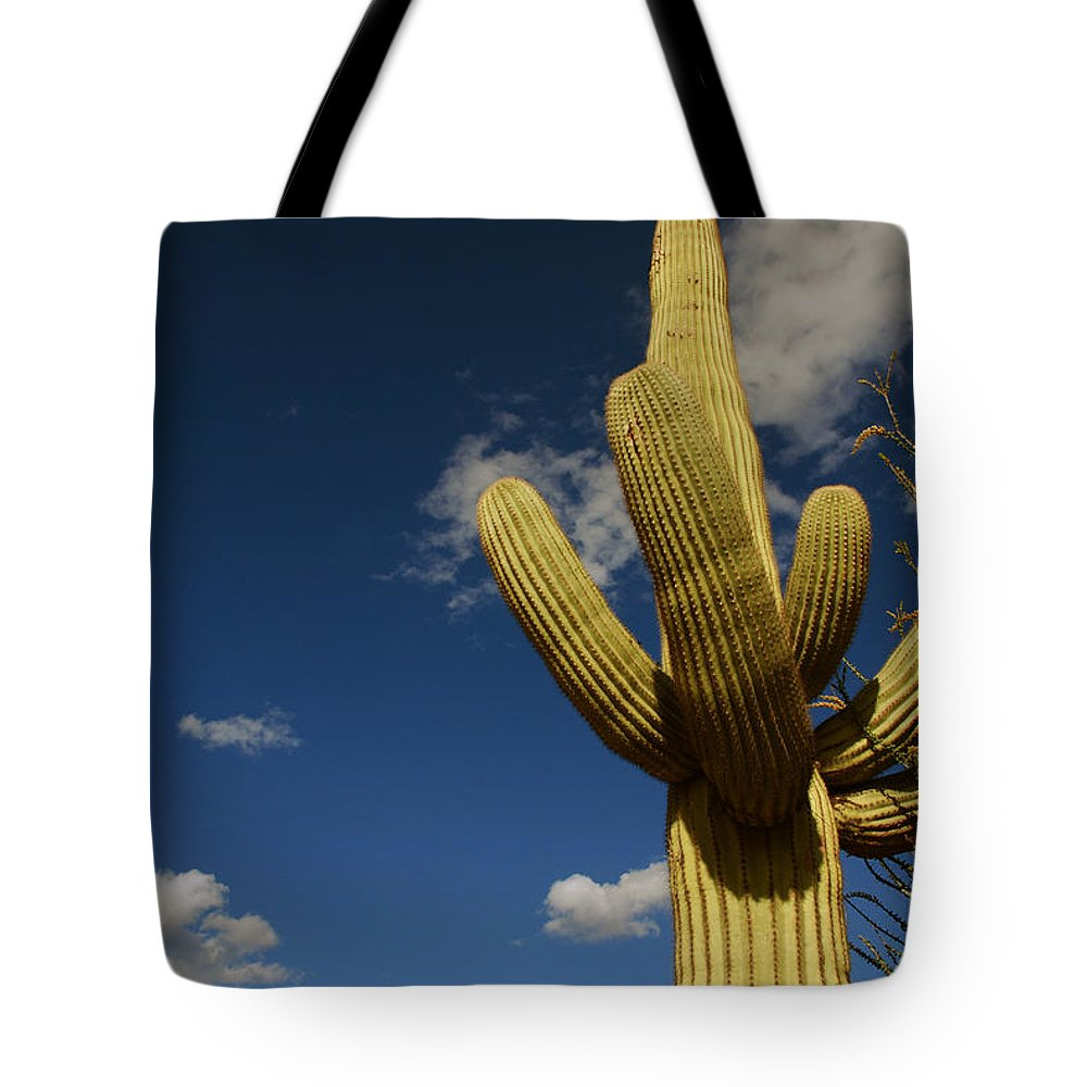 Saguaro Tote Bag featuring the photograph Up To The Sky by Susanne Van Hulst