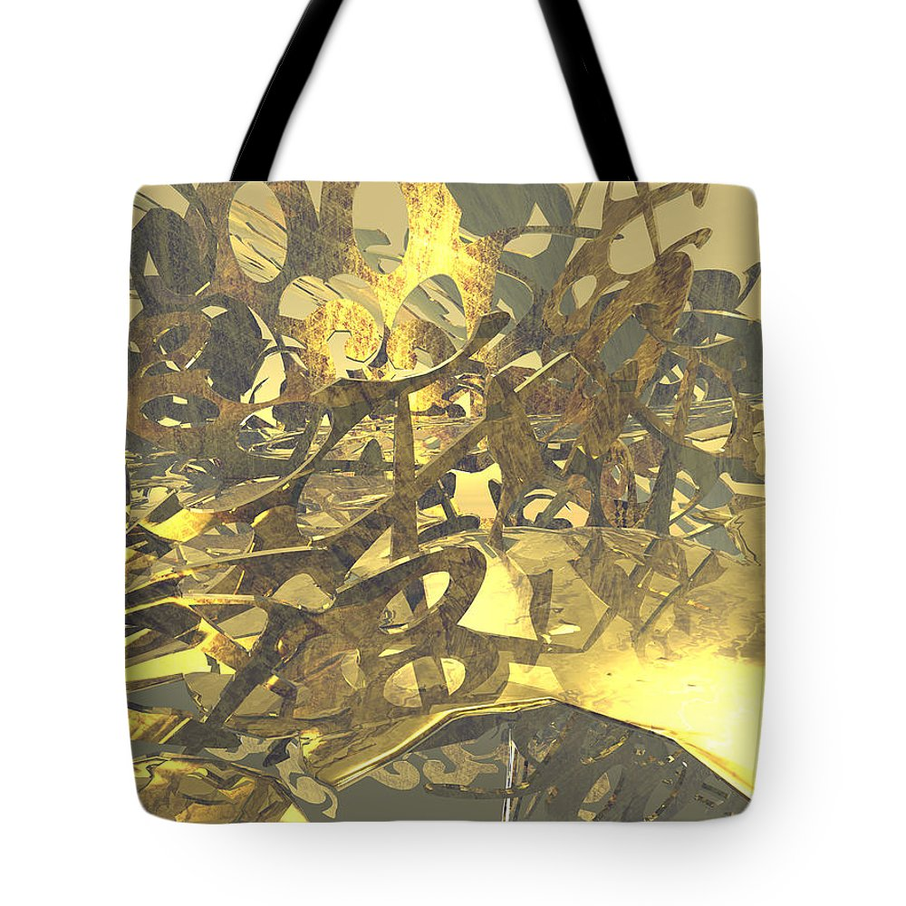 Scott Piers Tote Bag featuring the painting Urban Gold by Scott Piers