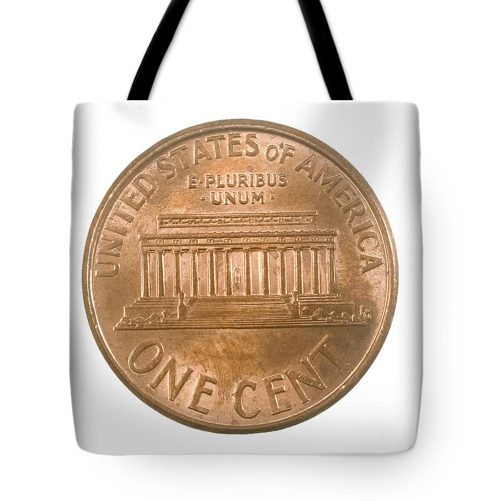 Us One Penny Coin One Cent Tote Bag