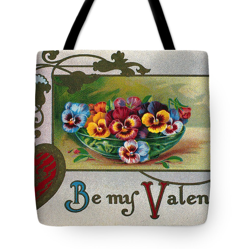 1913 Tote Bag featuring the photograph Valentines Day Card by Granger