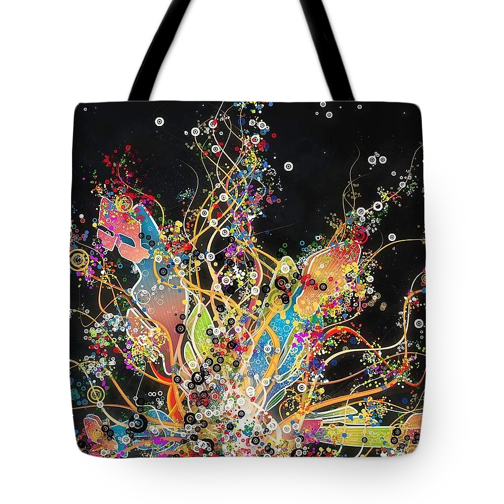 Vector Tote Bag featuring the digital art Vector by Maye Loeser