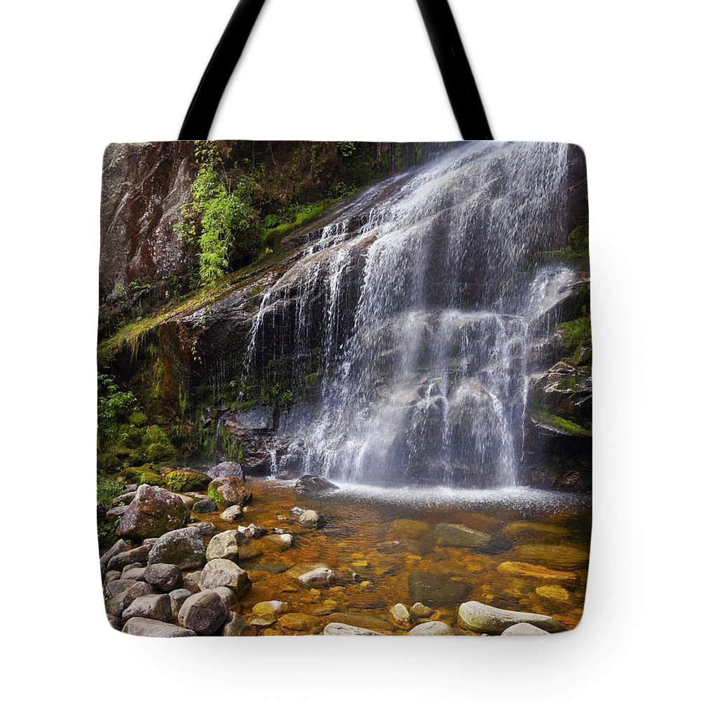 South America Tote Bag featuring the photograph Veu Da Noiva Waterfall by Karol Kozlowski