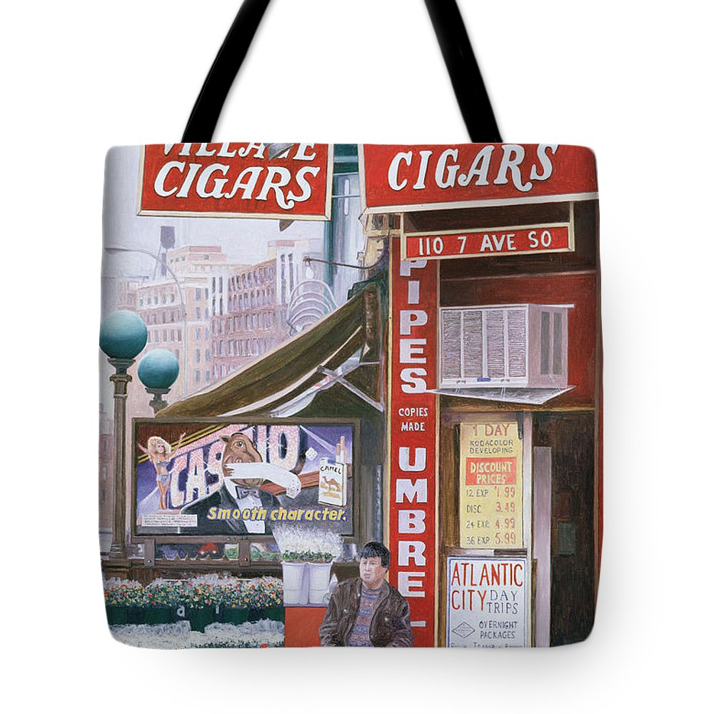 Tobacco Shops Paintings Tote Bags