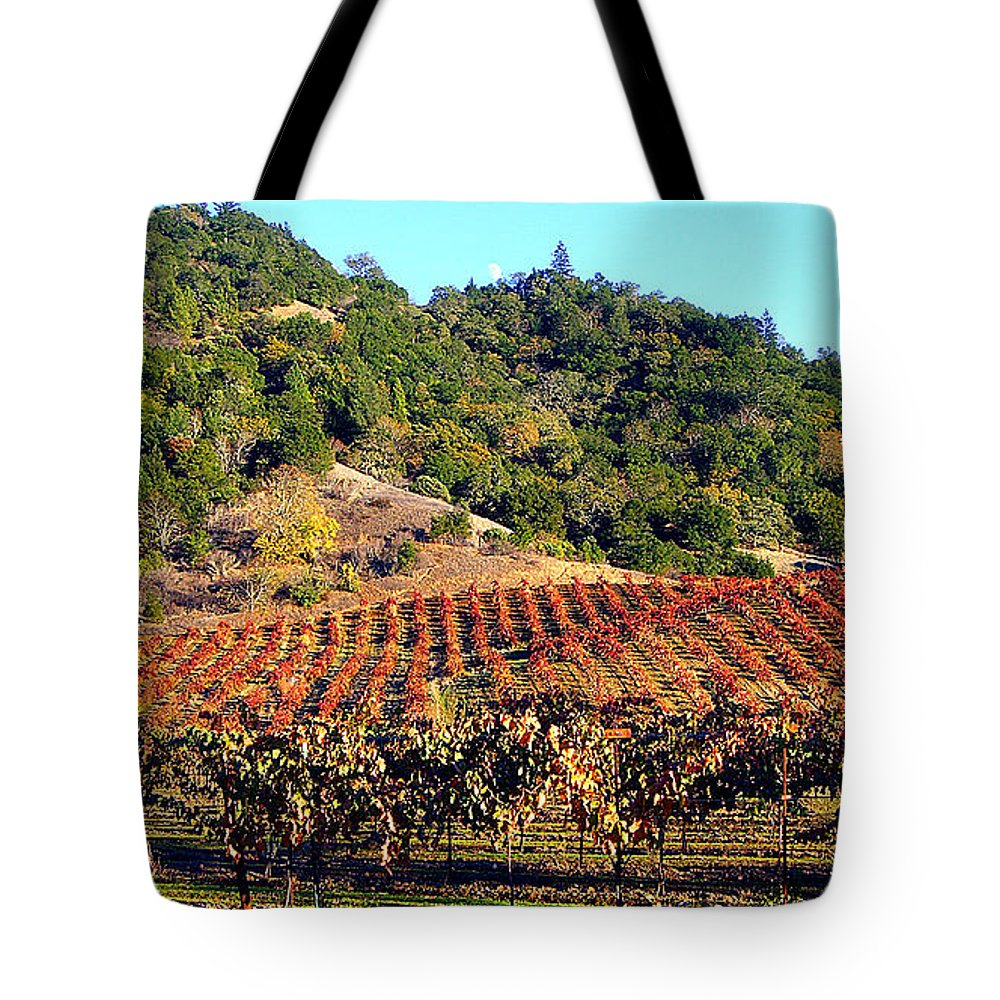 North California Napa Valley Wine Country Tote Bag featuring the photograph Vineyard 3 by Xueling Zou