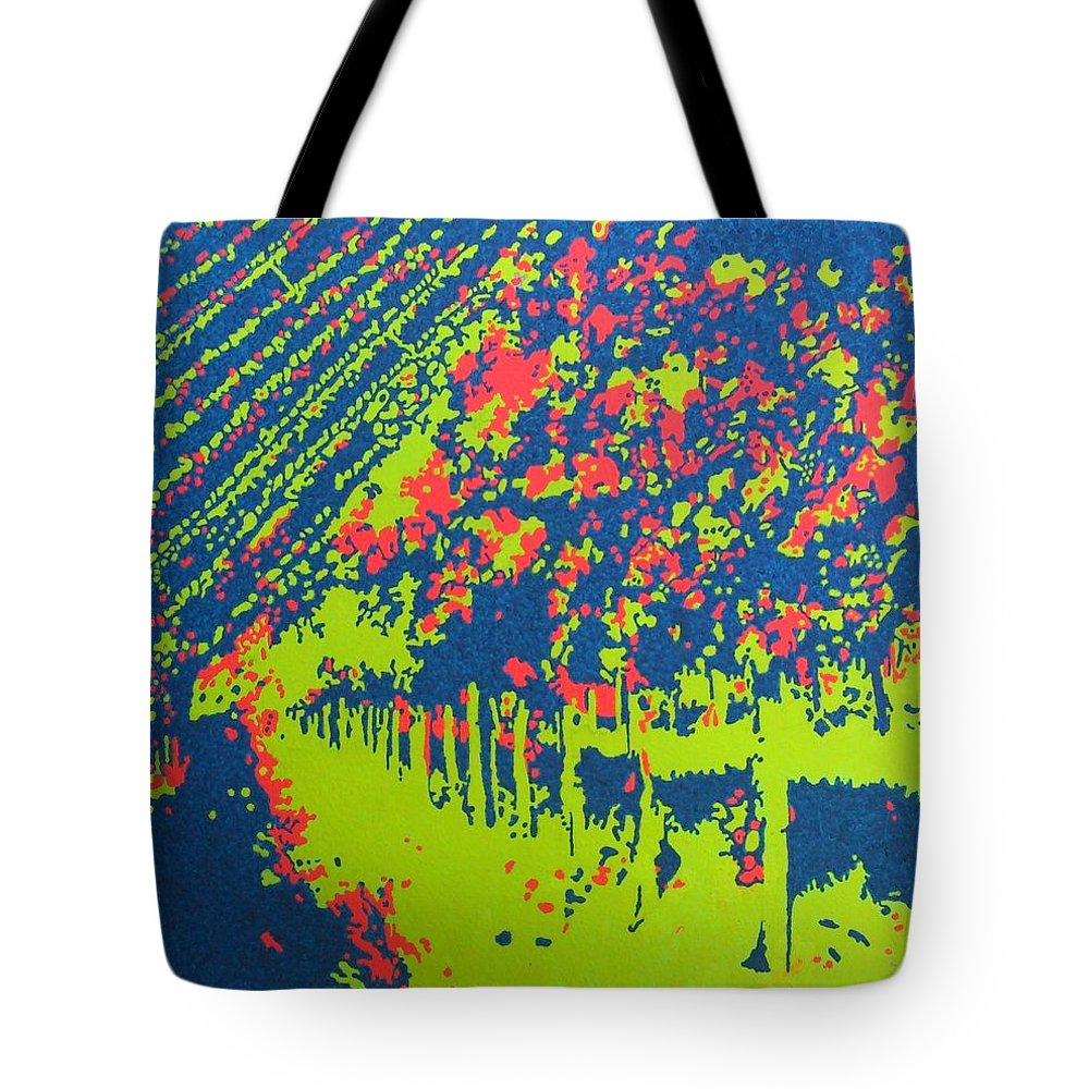 Acrylic Tote Bag featuring the painting Vineyard Petrovecki by Archynah