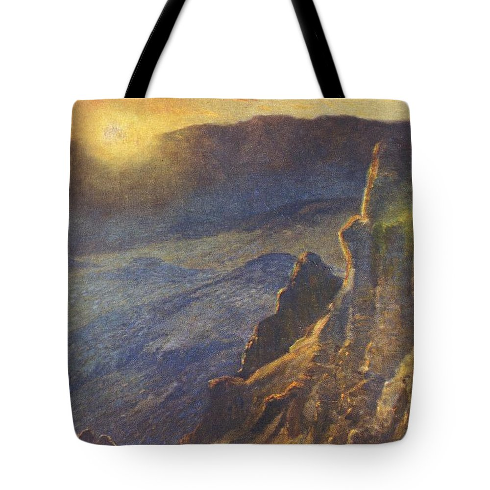 1923 Tote Bag featuring the painting Vintage Hawaiian Art by Hawaiian Legacy Archive - Printscapes