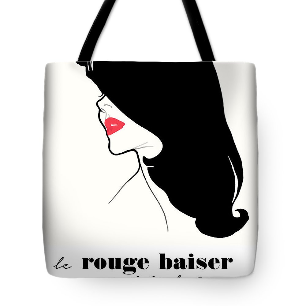 Vintage Tote Bag featuring the painting Vintage Paris Fashion by Mindy Sommers