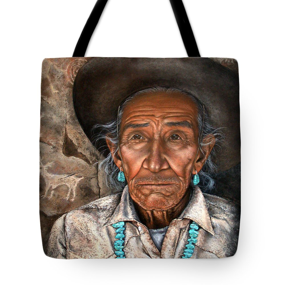 People Tote Bag featuring the painting Vision Of The Past by Deb Owens-Lowe