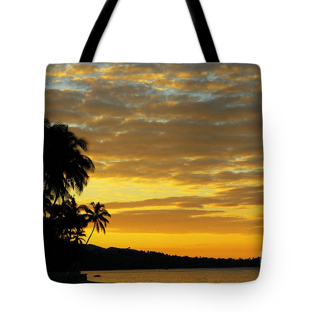Blue Tote Bag featuring the photograph Viti Levu, Coral Coast by Himani - Printscapes