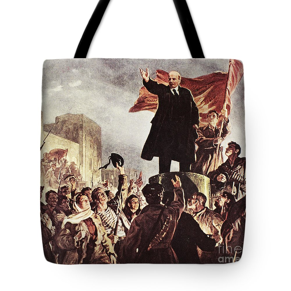 20th Century Tote Bag featuring the photograph Vladimir Lenin (1870-1924) by Granger