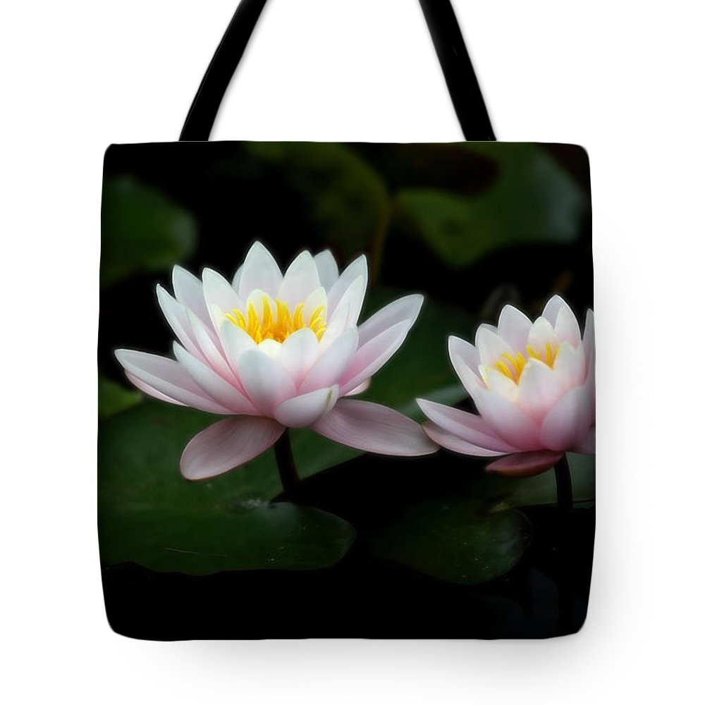 Waterlily Tote Bag featuring the photograph W A T E R L I L I E S by Thomas Herzog