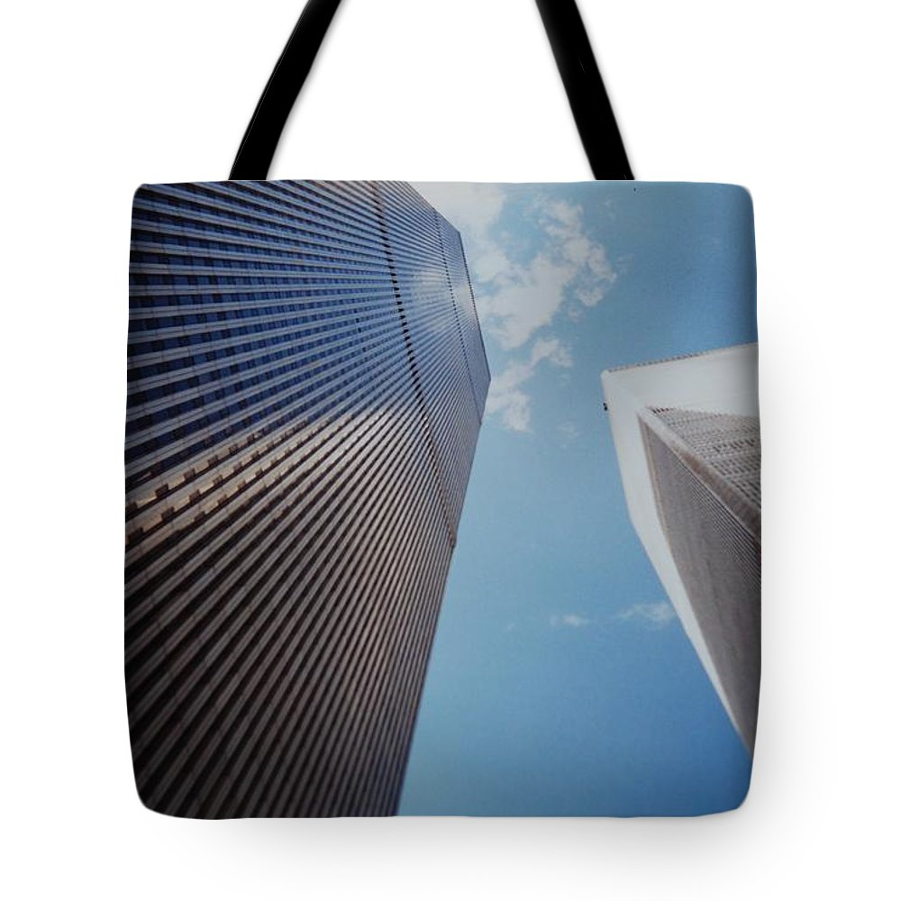 Wtc Tote Bag featuring the photograph W T C 1 And 2 by Rob Hans