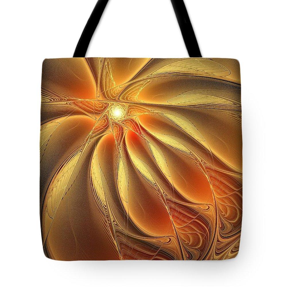 Digital Art Tote Bag featuring the digital art Warm Feelings by Amanda Moore