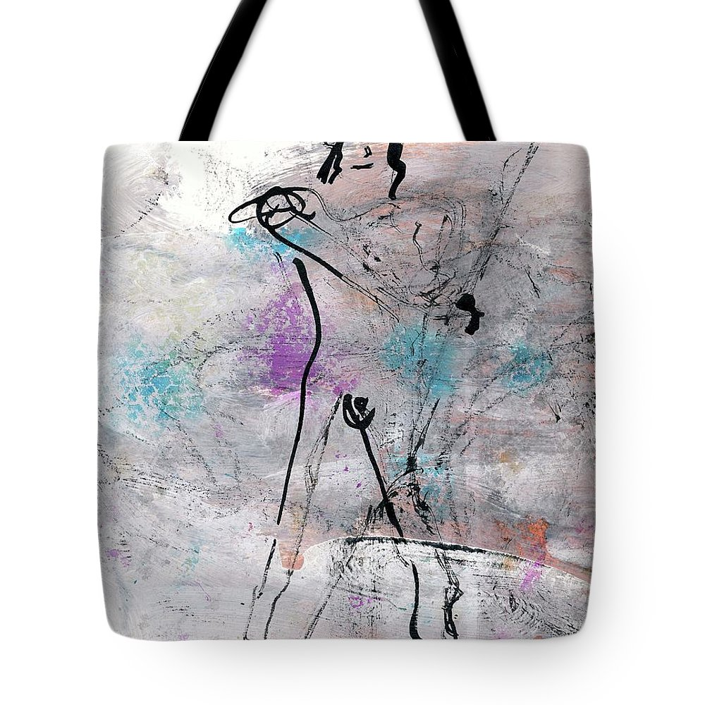 Figurative Painting Tote Bag featuring the painting Warrior by Janet Gunderson
