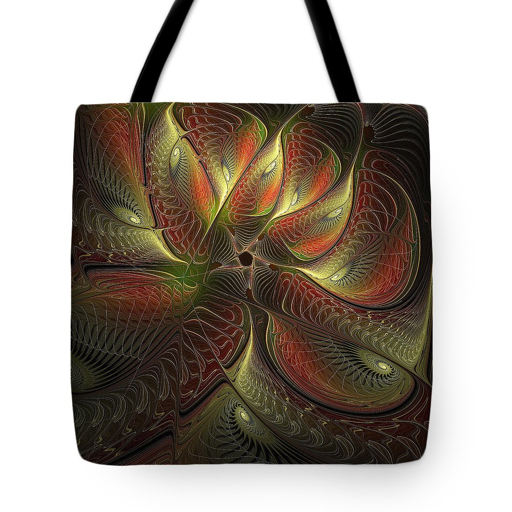 Digital Art Tote Bag featuring the digital art Watchful by Amanda Moore